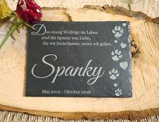 Tiergrab Grabstein für Tiere, Hund Katze - Name ihres Tieres 15x20cm