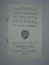 Bartholomew Fair Ben Johnson Old Vic 1950 Theatre Programme Edinburgh Festival