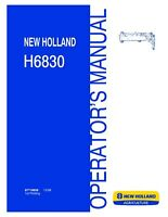 NEW HOLLAND H6830 Disc Mower OPERATORS MANUAL