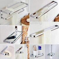 Chrome Bathroom Hardware Set Bath Accessories Towel Bar Ring Paper Holder Pxz02