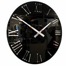 Roco Verre 3D Mirror Acrylic Roman Clock Black 57cm Diameter