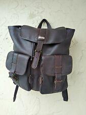 LL Bean Rucksack Leather drawstring backpack