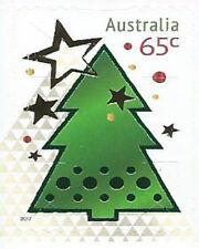 2017 Christmas Tree 65c Foil Embossed Self Adhesive Stamp:Muh
