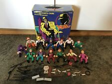 1990 DICK TRACY Action Figure Playmates Lot Accessories Flattop Big Boy Case