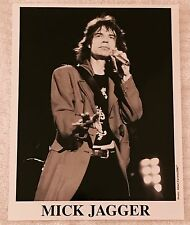 MICK JAGGER Photograph ALBERT FERREIRA DMI Promo Press B&W Photo Rolling Stones