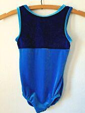 Motionwear Gymnastics Leotard Child Int. 6x/7 Blue Velvet Sparkly