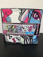 NEW Monster High Micro MInk Fitted Sheet and Pillowcase Set