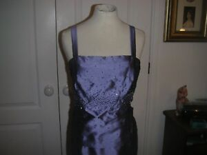 "Blue ""Alex"" Evening Dress and Jacket  Size 14"