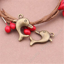 15pc Animal Dolphins Pendant Charms Accessories Findings Antique Bronze B255P