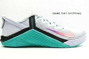 Nike Metcon 6 Flyease (Mens Size 10) Shoes DB3794 020 Grey Aqua wmn sz 11.5
