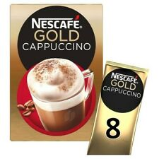 3 X Nescafe Gold Cappuccino 8 Sachets 124G ***FREE UK DELIVERY***