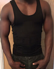 Men's Body Shaping Tank Top-Black (XL)