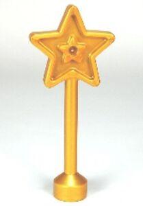 LEGO - Duplo Utensil Magic Wand 5 Point Star - Pearl Gold