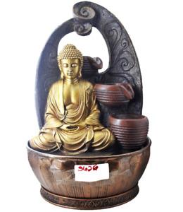 Golden Buddha Cascade Fountain w/ loop Background