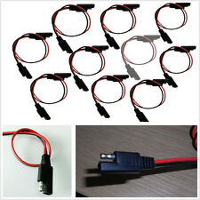 10 Pcs Motorbike 18 Gauge 2-Pin Quick Disconnect Wire Harness SAE Connectors Kit