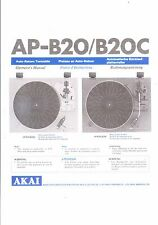 Akai  Bedienungsanleitung user manual operator´s manual für AP- B 20/C