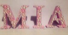 Nombre de 3 letras de madera decoradas 8 Cm Baby Shower Nacimiento Bebé Regalo Bebé Vivero