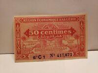 ALGERIA-50 CENTIMES = 10 SURDI-1944-PICK 97a , AU