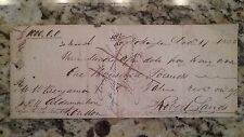 Early Handwritten Check, 1835, Bank of England, before we had printed ones!