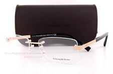 Brand New Ermenegildo Zegna Eyeglass Frames Rimless  EZ 5010 028 Gold/Black