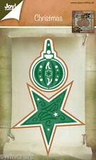 Joy Crafts troquelado & Plantilla de Grabación en Relieve Adorno Y Navidad Estrella 6002/2044 *