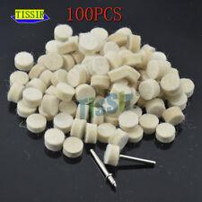 "100p 1/2"" Soft Wheel FELT POLISHING Burr with 2 mandrel Wool For Rotary Tools"