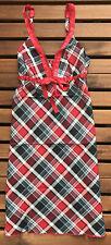Jockey Women's Cotton Lyocell Chemise - Red Check - Medium - 851201WH-310