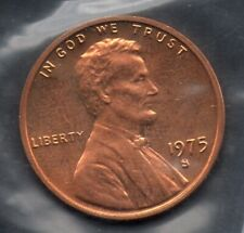 1975- S Lincoln Heads  Memorial One Cents Penny USA Coin