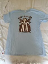 FOO FIGHTERS CLASSIC ROCK BAND UNISEX BLUE COTTON GRAPHIC T SHIRT..NWOT.