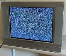"Daewoo CRT 20"" TV Flat Screen A/V Inputs RETRO Gaming TV Works PERFECT"