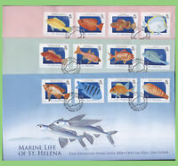 St Helena 2008 Marine Life definitives set on three First Day Covers
