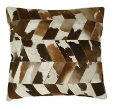 LARGE COWHIDE CUSHION COVER, ANIMAL SKIN LEATHER , PILLOW COVER - Multicolor