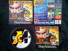 JEU Sony Playstation PS1 PS2 : ACTION MAN (Hasbro COMPLET envoi suivi)