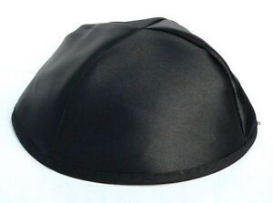 New Black Satin KIPPAH Yarmulke Yarmulka Kippa Kipa Yamaka Jewish Hat Head Cover