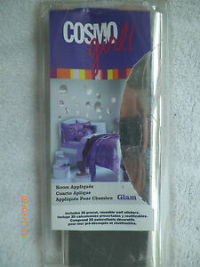 COSMO GIRL ROOM APPLIQUES, GLAM, SILVER DISKS --  FREE SHIPPING!