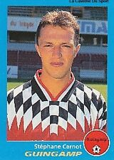N°112 STEPHANE CARNOT GUINGAMP VIGNETTE PANINI FOOTBALL 96 STICKER 1996
