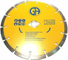 "7"" Inch Diamond Saw Blade general purpose wet/dry fast cutting 50PCS  $4.91EACH"