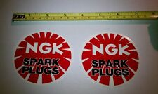 2 Factory NGK Decals Stickers Emblem Gas Tank Bike