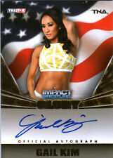 TNA Gail Kim 2013 Impact Wrestling GLORY GOLD On Card Autograph SN 3 of 199