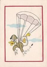 A6769) WW2, PAPERINO PARACADUTISTA. DIPINTA A MANO. VIAGGIATA NEL 1945.