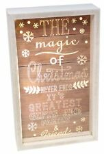 LIGHT Up Magia del Natale LED PLACCA Box Telaio Decorazione