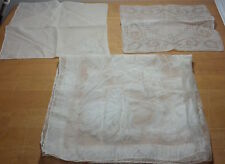 Vintage sheer hankies (2) and kerchief (1) Very clean and in great condition