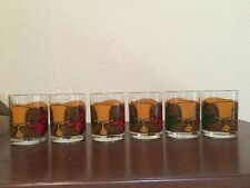 Neiman Marcus Teddy Bear Double Old Fashioned Glasses Christmas 6 Set