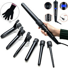 6 Barrels Curling Iron Curler Wand Hair Styling Tong Waver Ceramic Salon Tool