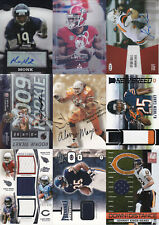 Lot of 9 Chicago Bears Autograph, Jersey, Relic and #'d cards