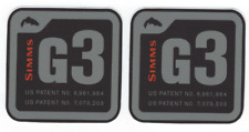 Simms G3 Fishing Gear Decals Stickers New Set of 2