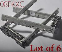 """Lot of 6 Original Dell 2.5"""" 8FKXC SAS Tray Caddy R730 R630 R730xd MD1420 MD3420"""