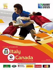ITALY v CANADA RUGBY WORLD CUP 2015 OFFICIAL PROGRAMME, 26 Sep Leeds