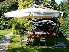 Maffei parasol fibre verre Fibrasol ecru polyester 350x350cm made in Italy