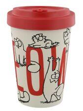 Simon's Cat Travel Mug Eco-Friendly Biodegradable Bamboo Cup White 9.5x14cm
